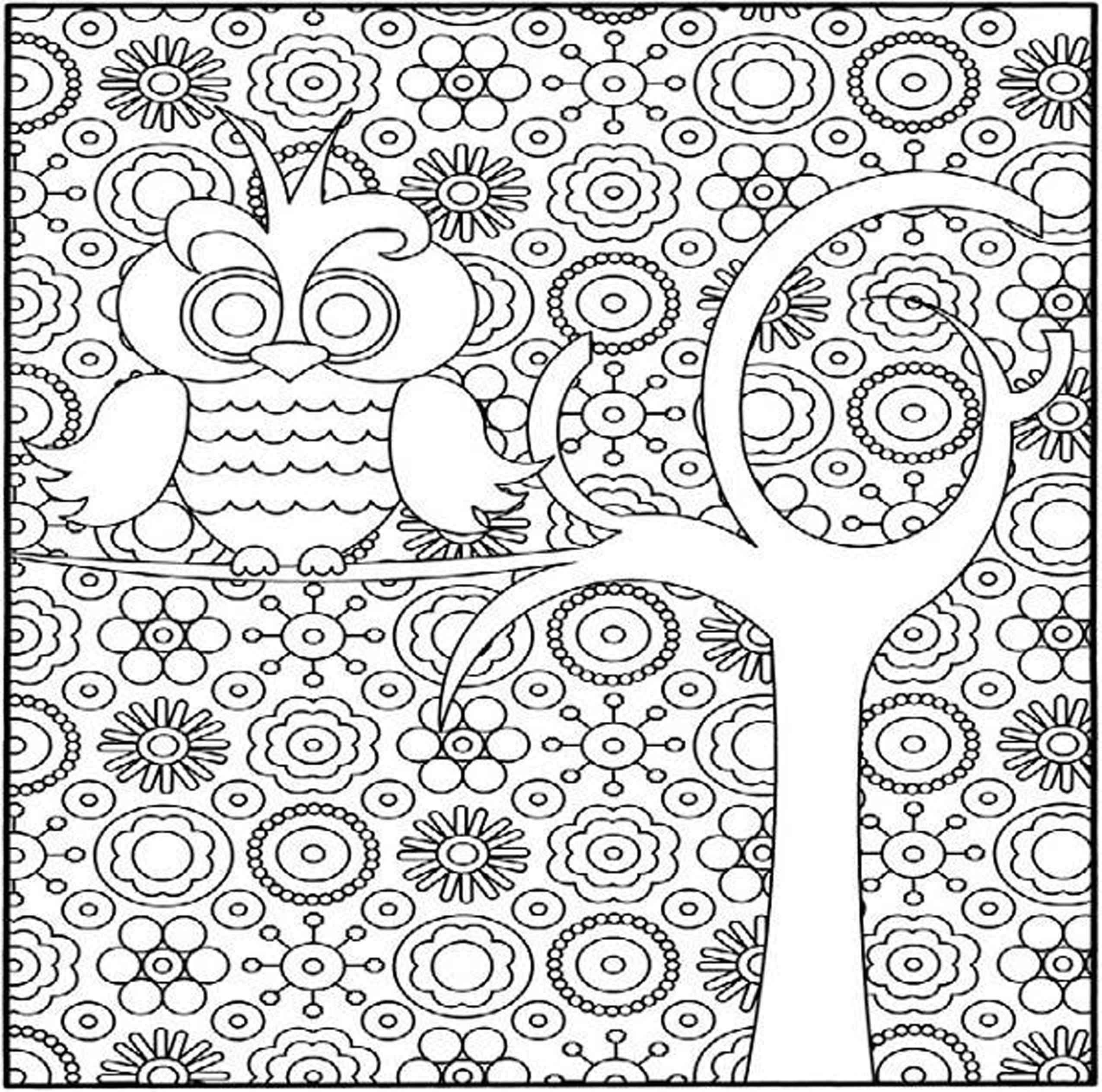 Fun Hard Coloring Pages For Kids