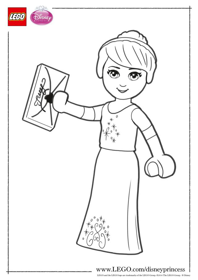 Lego Disney Princesses Coloring Pages - Coloring Home