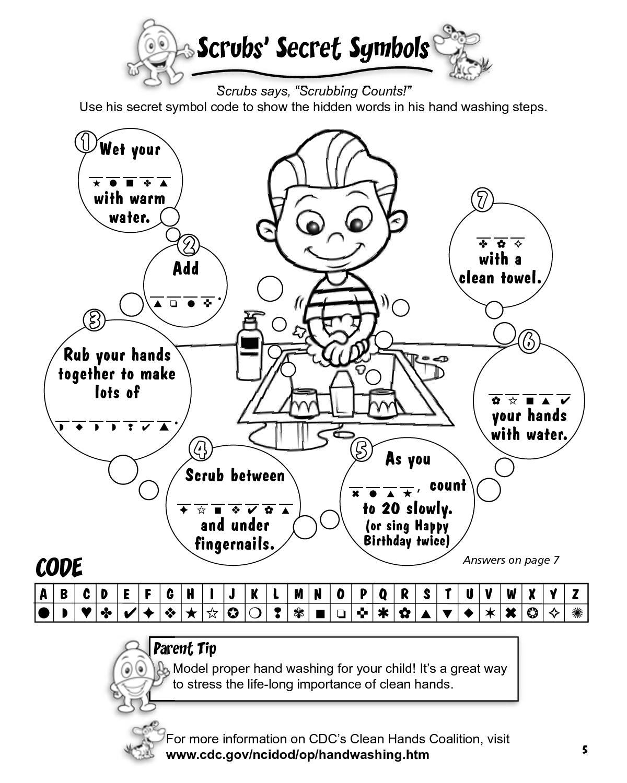 Washing Hands Worksheet