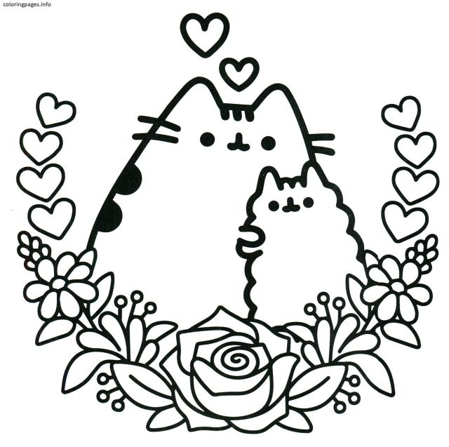 Selected Coloring Pages Of Nyan Cat Pusheen Best Pdf Free 22 In