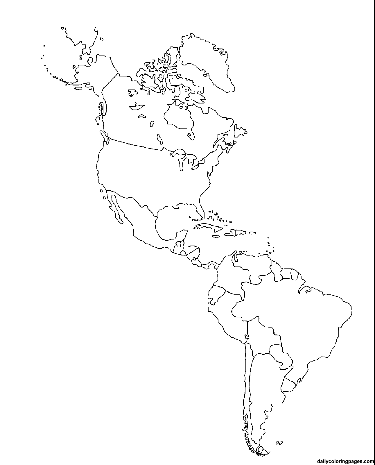 Coloring Page Map Of Usa