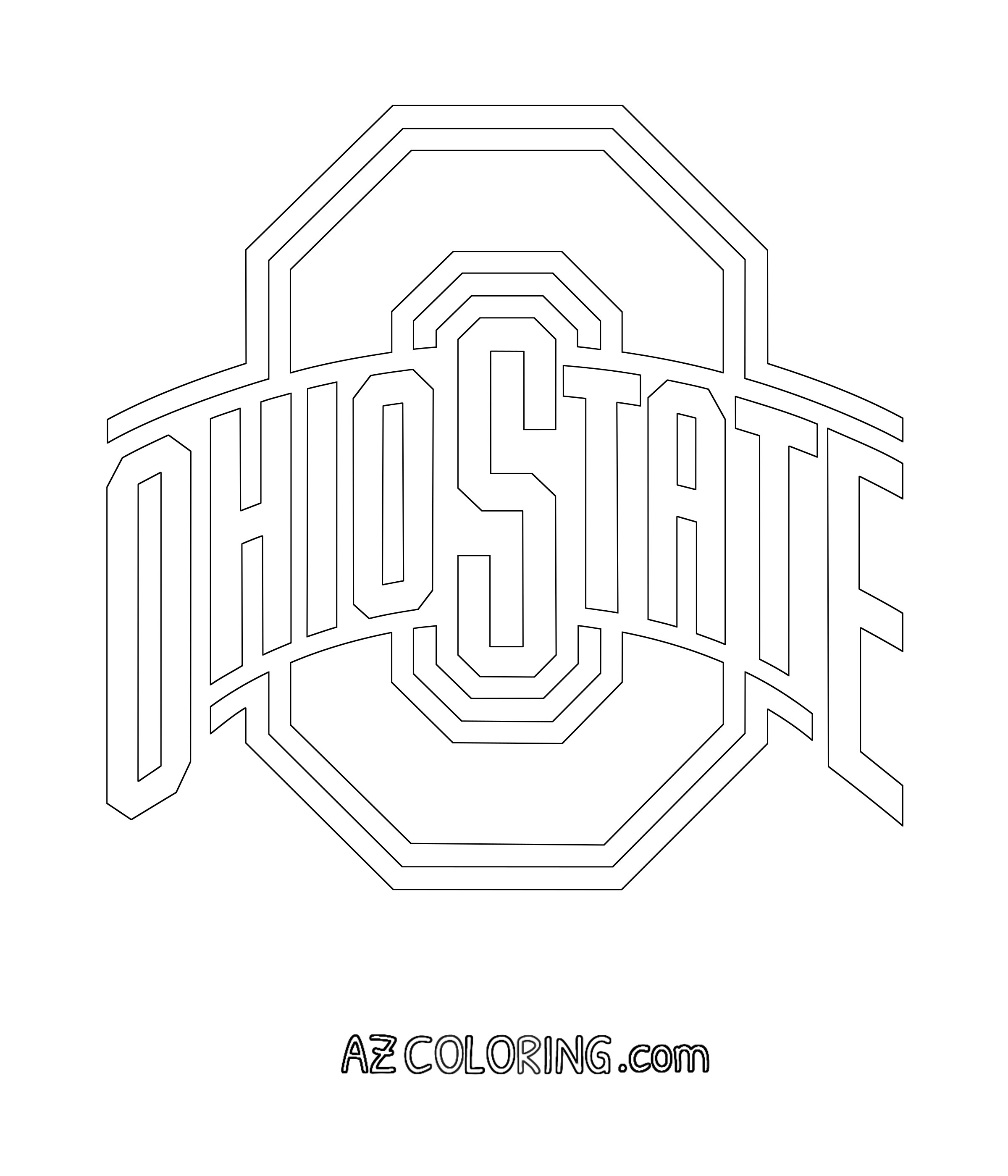 15 Ohio State Buckeyes Coloring Pages