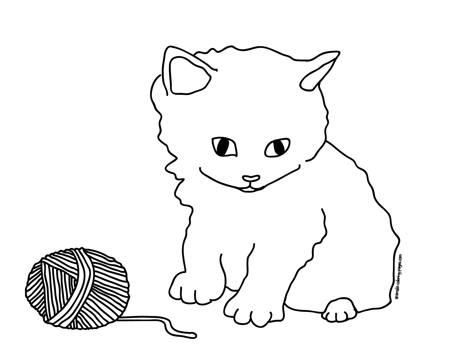 Baby Puppy And Kitten Coloring Pages