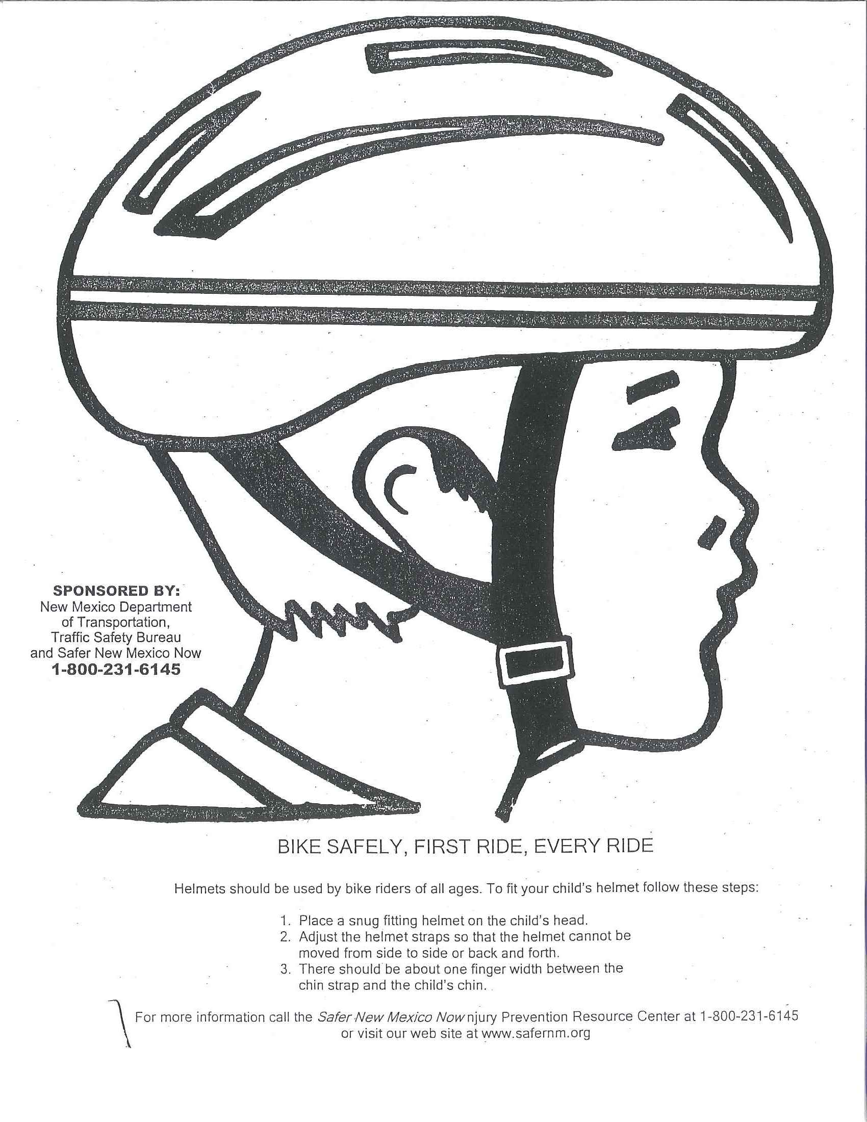 Bike Helmet Safety Coloring Pages