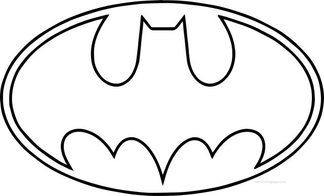 Batman Logo Coloring Pages - Coloring Home