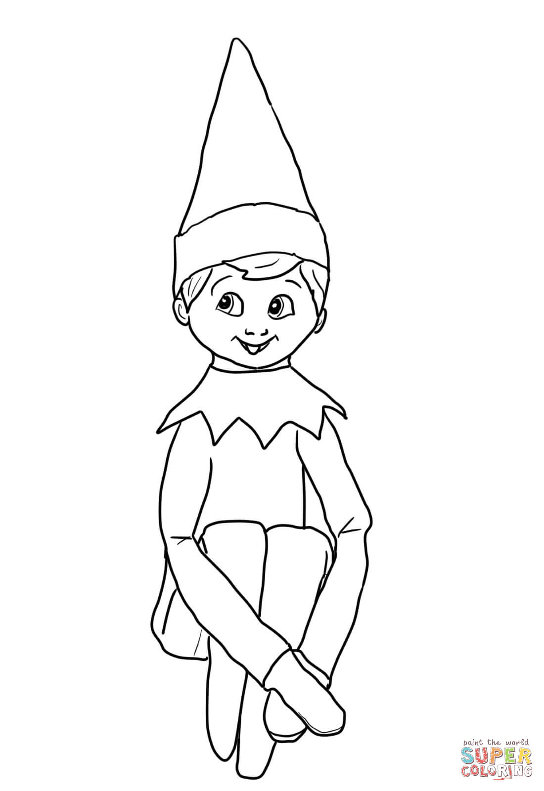 Christmas Coloring Pages Elf On The Shelf And Reindeer