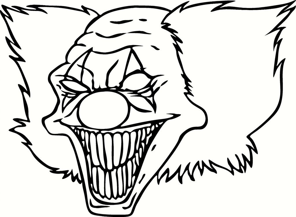 Scary Clowns Coloring Pages Coloring Home