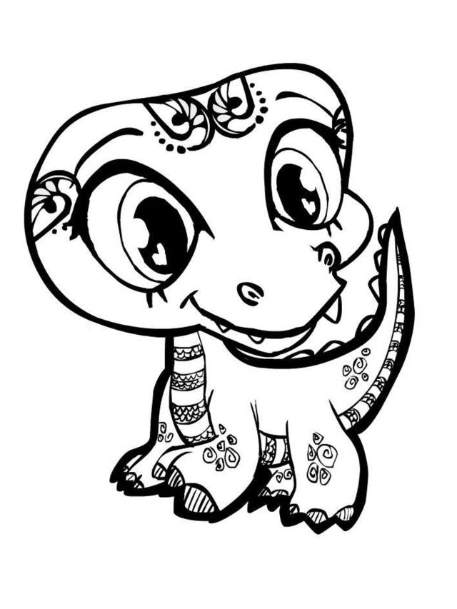 Coloring Pages Of Baby Crocodile - Coloring Home