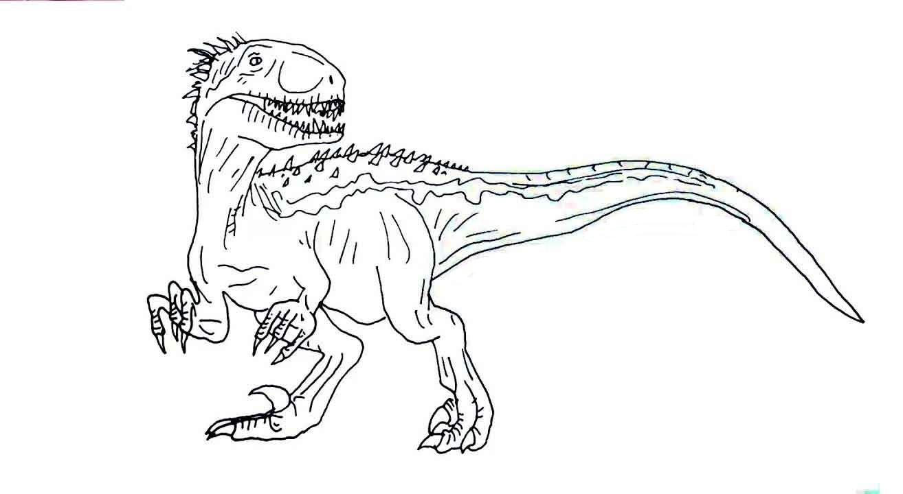 Following the epic storylines of jurassic park, the lost world: Coloring Pages : Jurassic World Coloring Pages Indoraptor