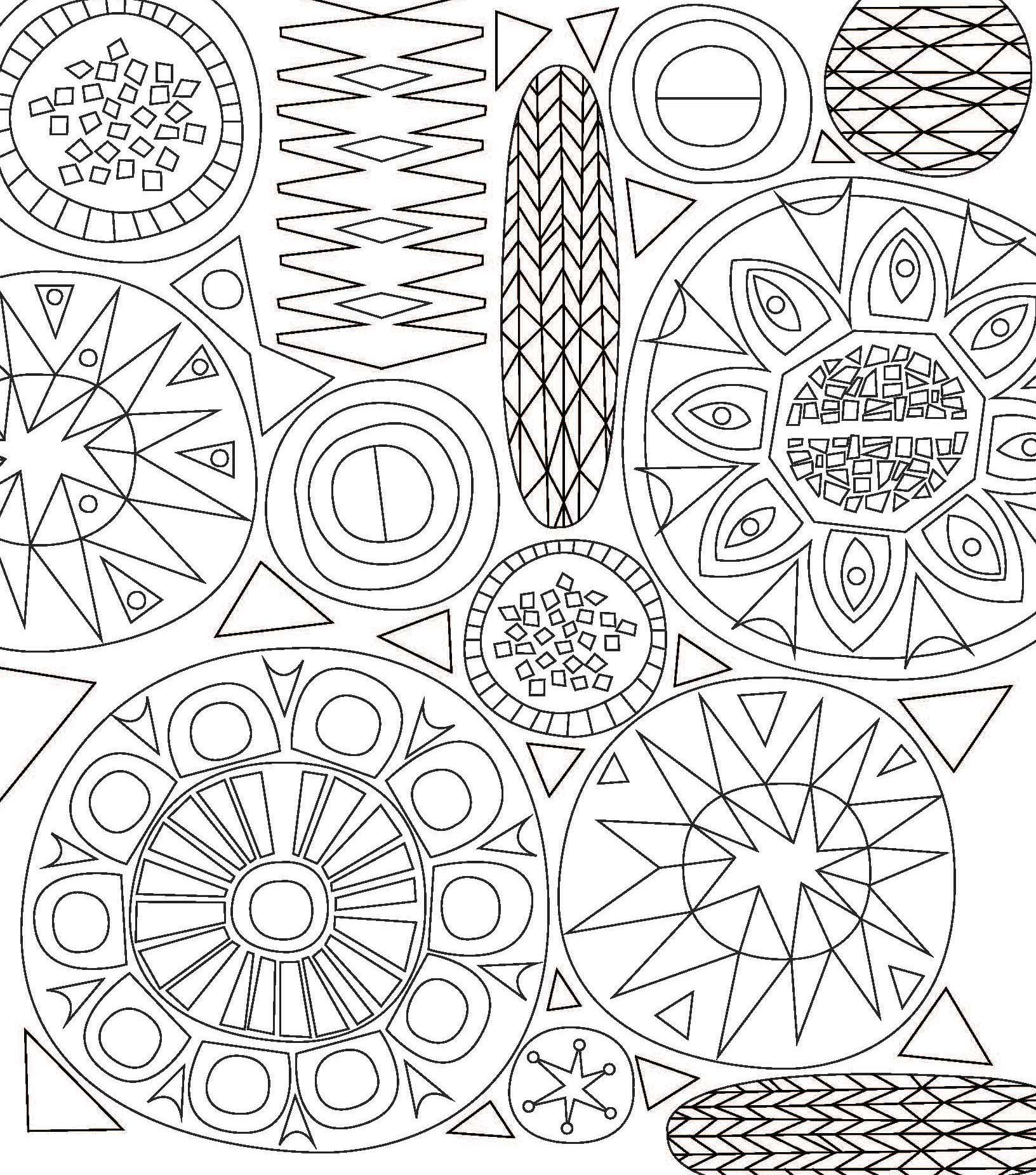 Tessellation Patterns Coloring Pages