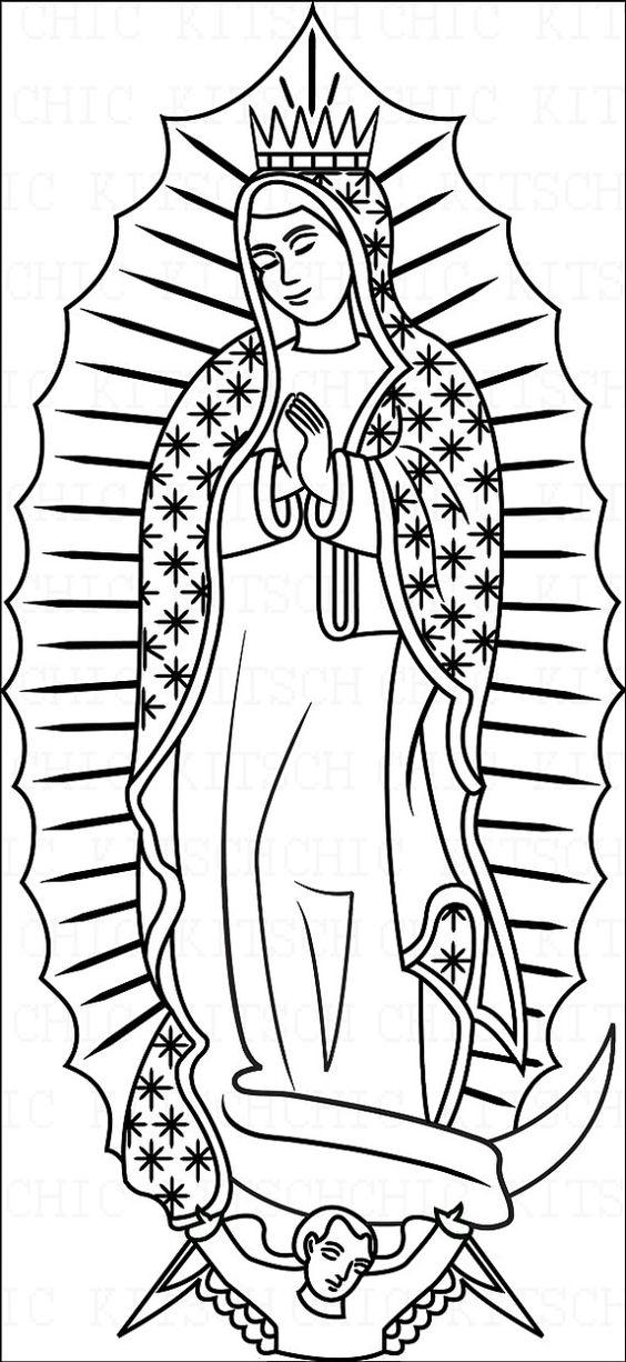 our lady of guadalupe coloring page # 8