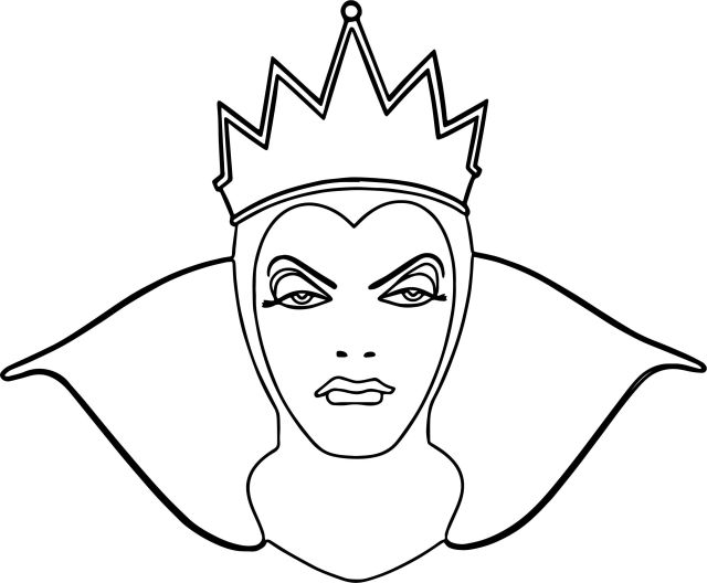 Evil Queen Coloring Pages - Coloring Home