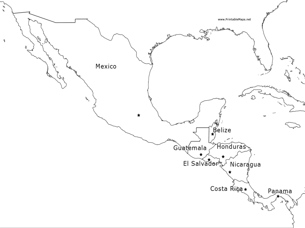 Outline Map Of Mexico