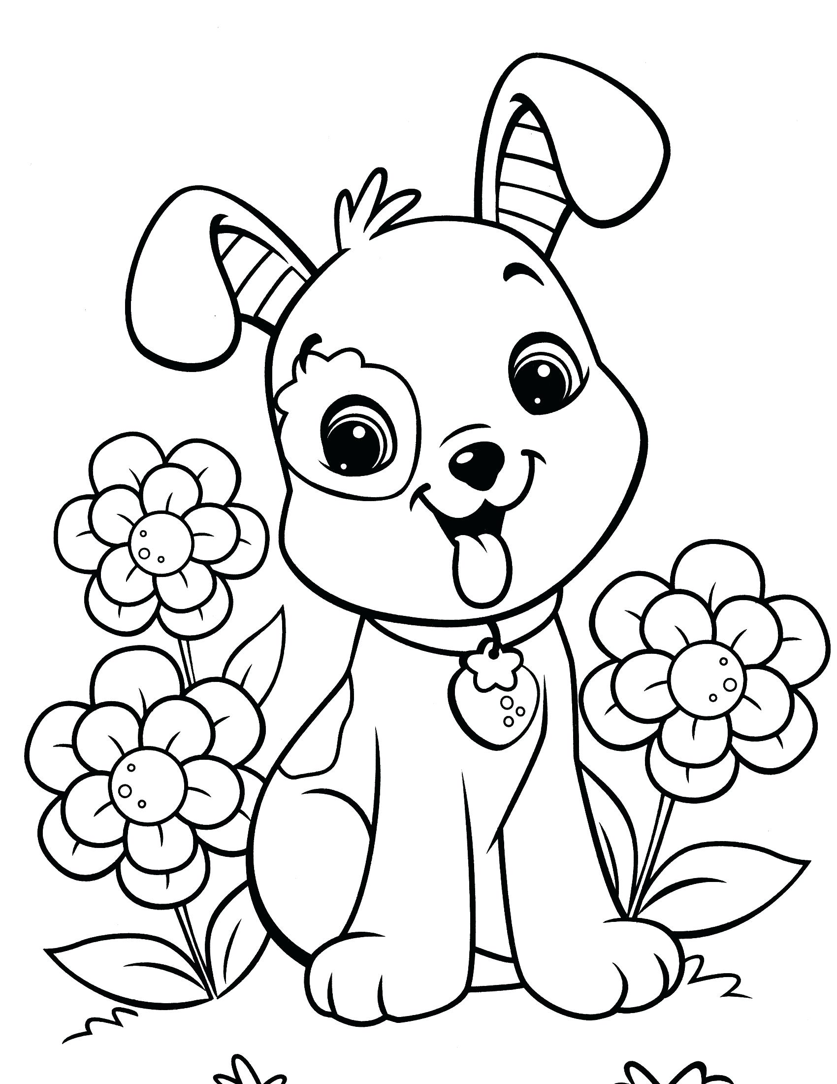 Preschool Kitten Coloring Pages