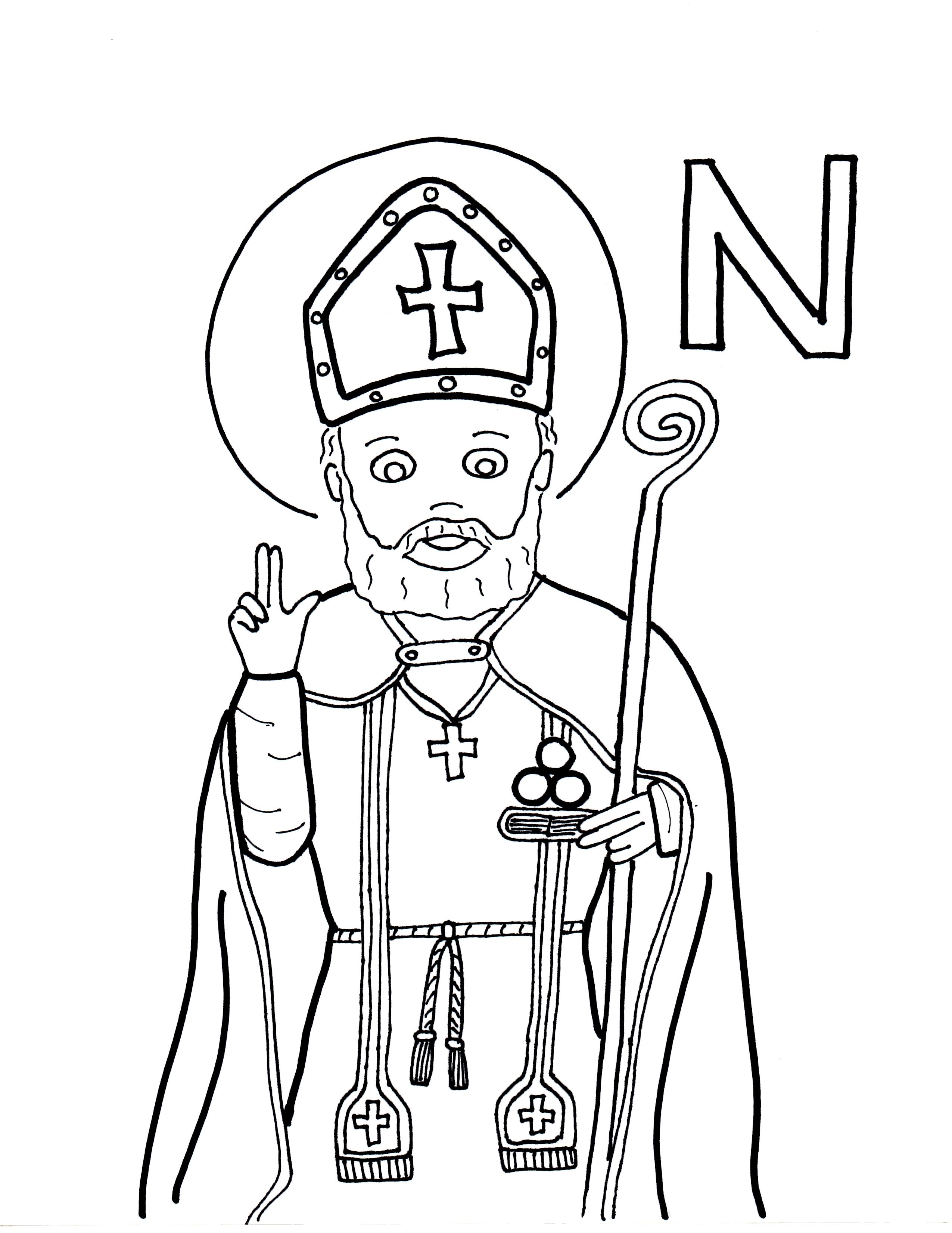 St Nicholas Coloring Pages