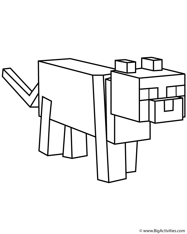Printable Minecraft Dog Coloring Pages Novocom Top