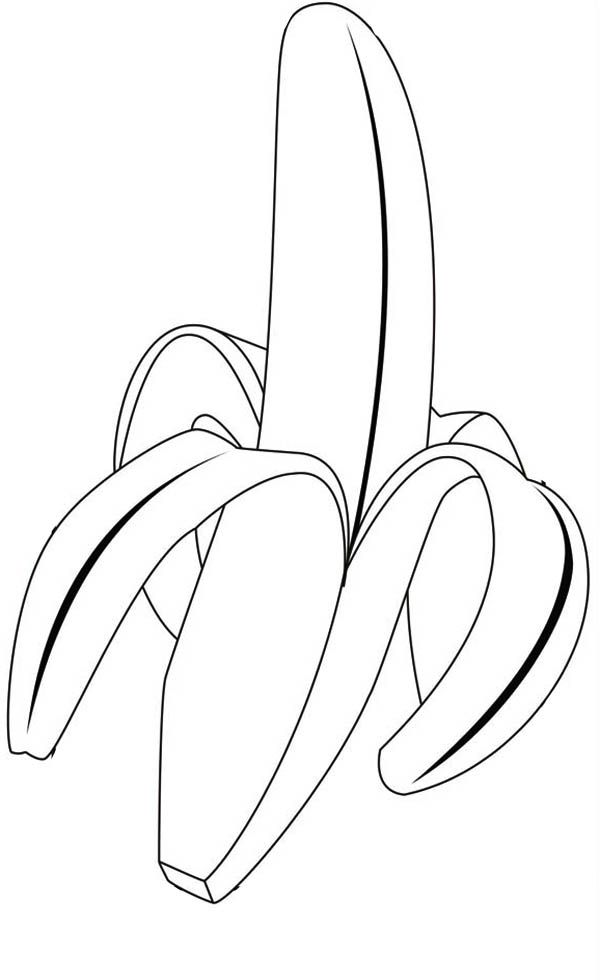 banana coloring pages print  coloring home