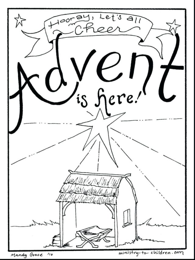 Coloring Pages : Coloring Page Advent Wreath Cellarpaper