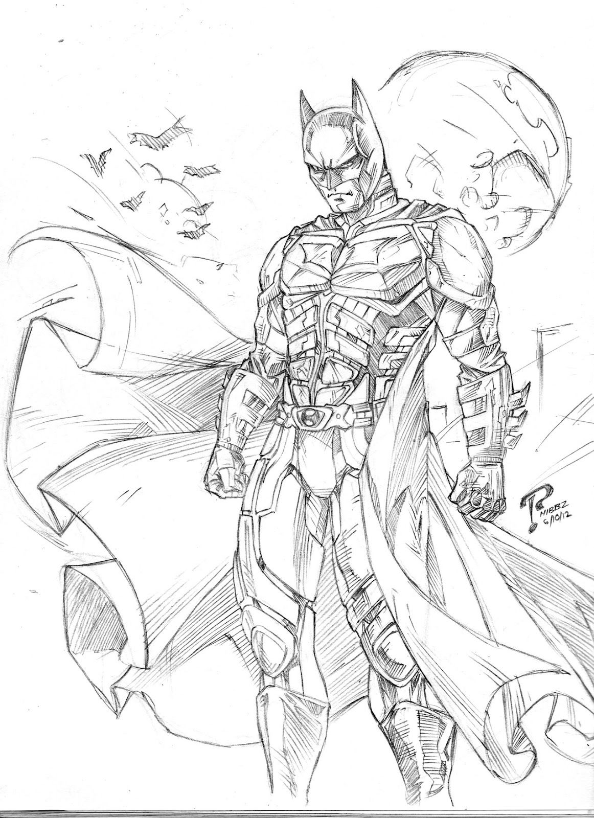 Arkham Knight Coloring Pages