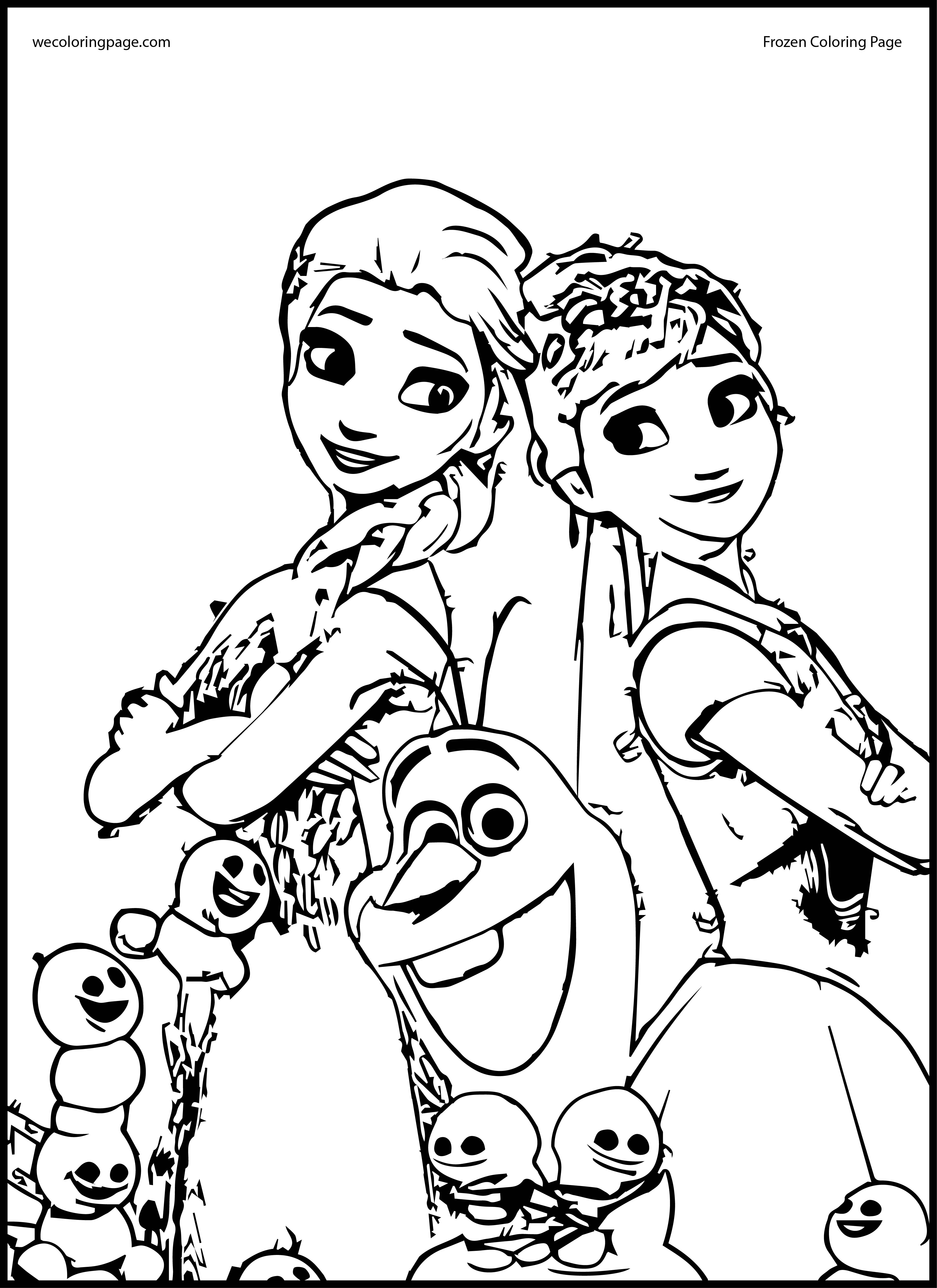 Elsa And Anna Coloring Pages