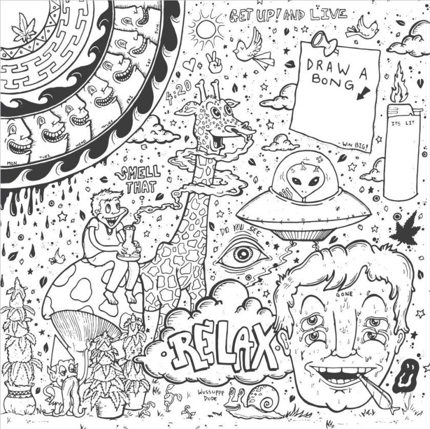 get creative  5 trippy coloring book designs