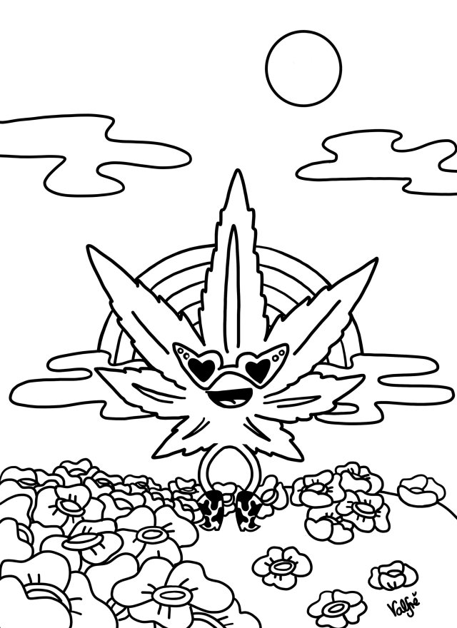 Coloring Pages Weed - Coloring Home