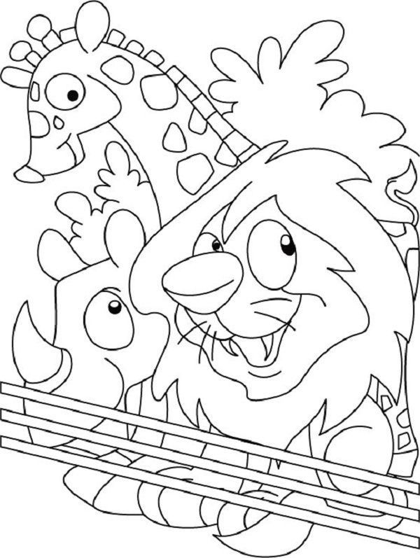Put Me In The Zoo Coloring Page - Coloring Home | free printable colouring pages zoo animals