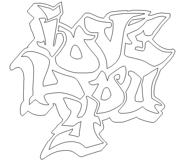 I Love You Graffiti Coloring Pages - Coloring Home