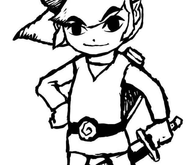 The Legend Of Zelda Coloring Pages Coloring Home
