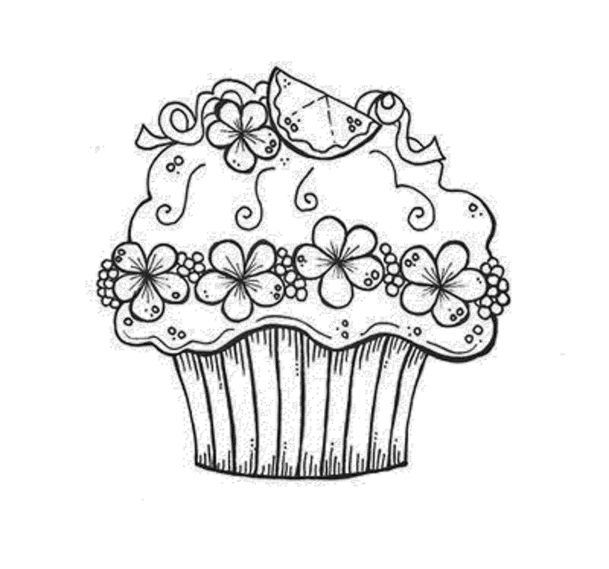 Cupcake Coloring Pages Free