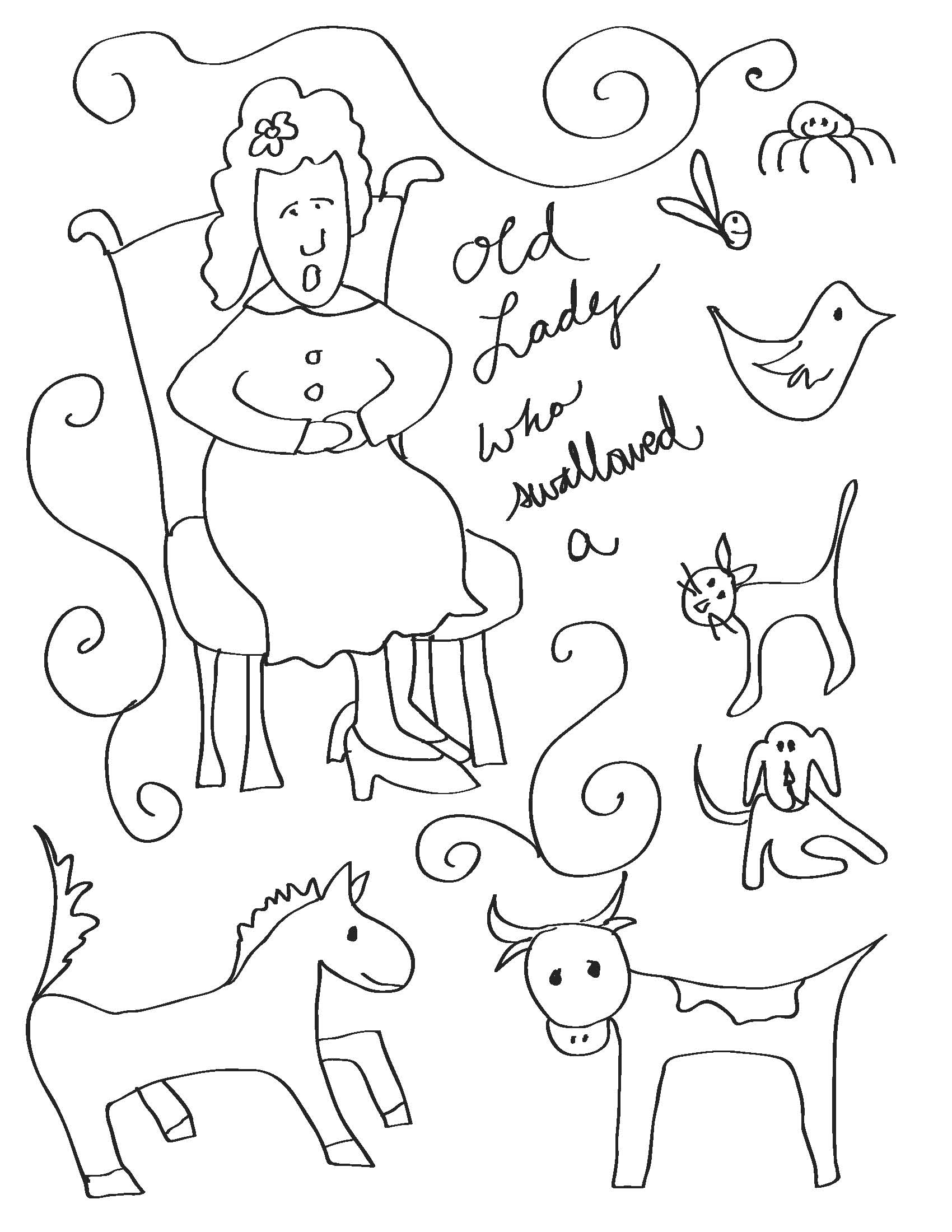Little Old Lady Coloring Pages Coloring Pages