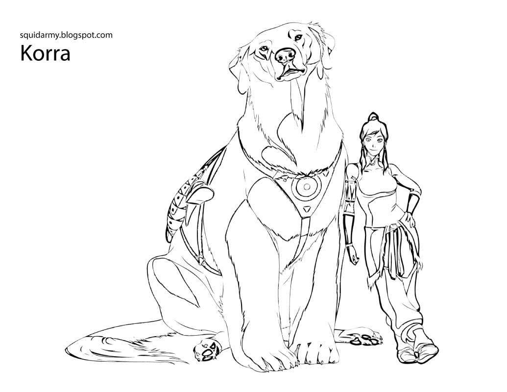 Legend Of Korra Coloring Pages Free To Print