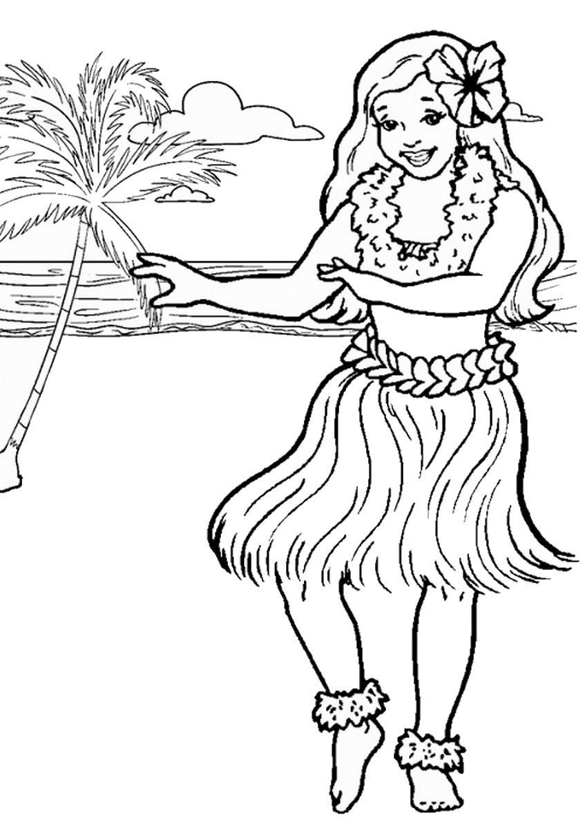 Luau Coloring Pages Free Printables Coloring Home