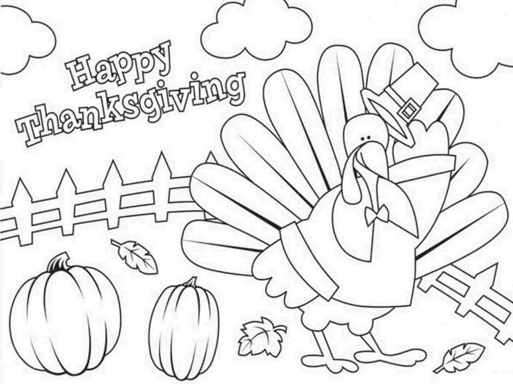 Coloring Pages Thanksgiving Disney