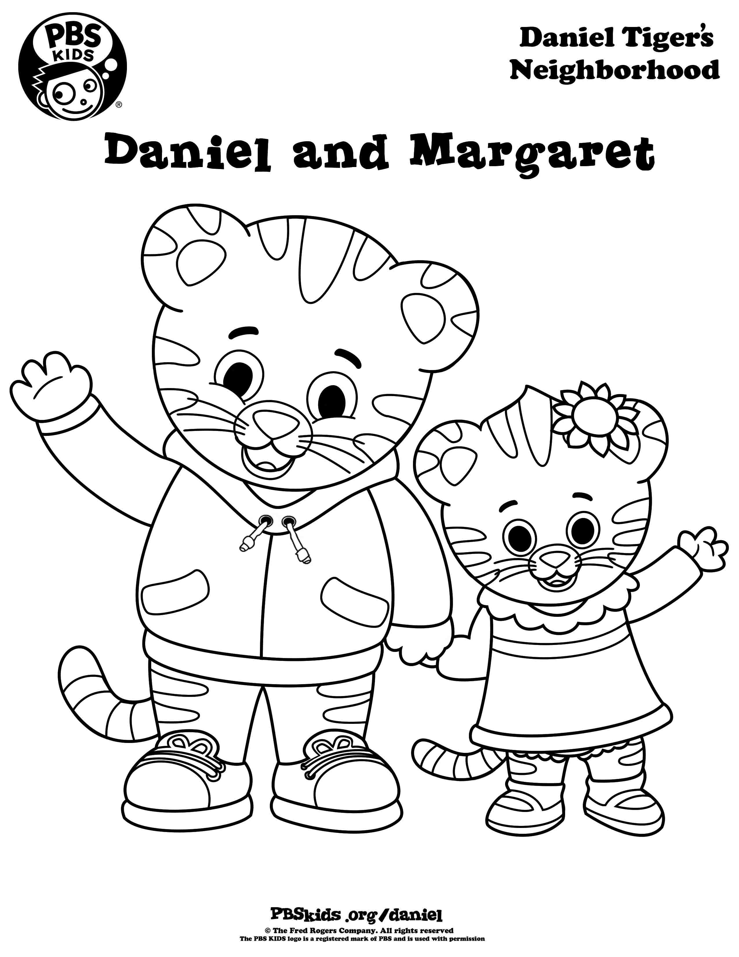 Daniel Tiger Coloring Pages Katerina