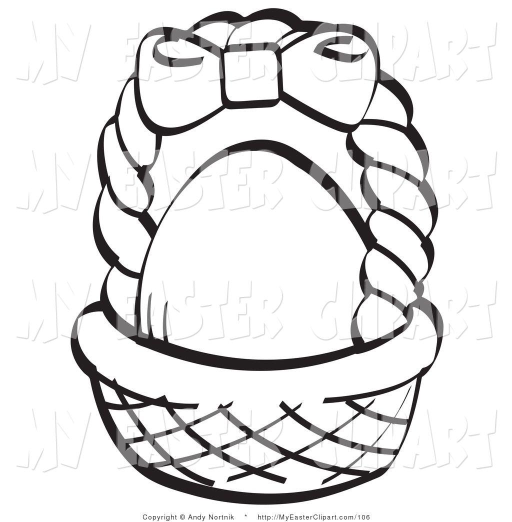 Easter Basket Blank Clipart