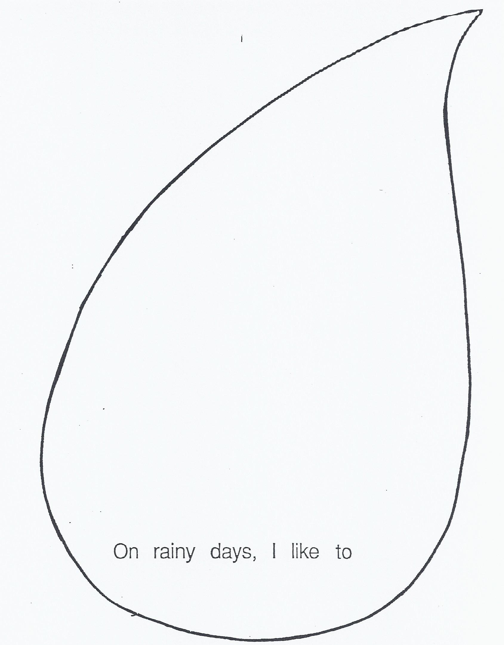 Printable Raindrops