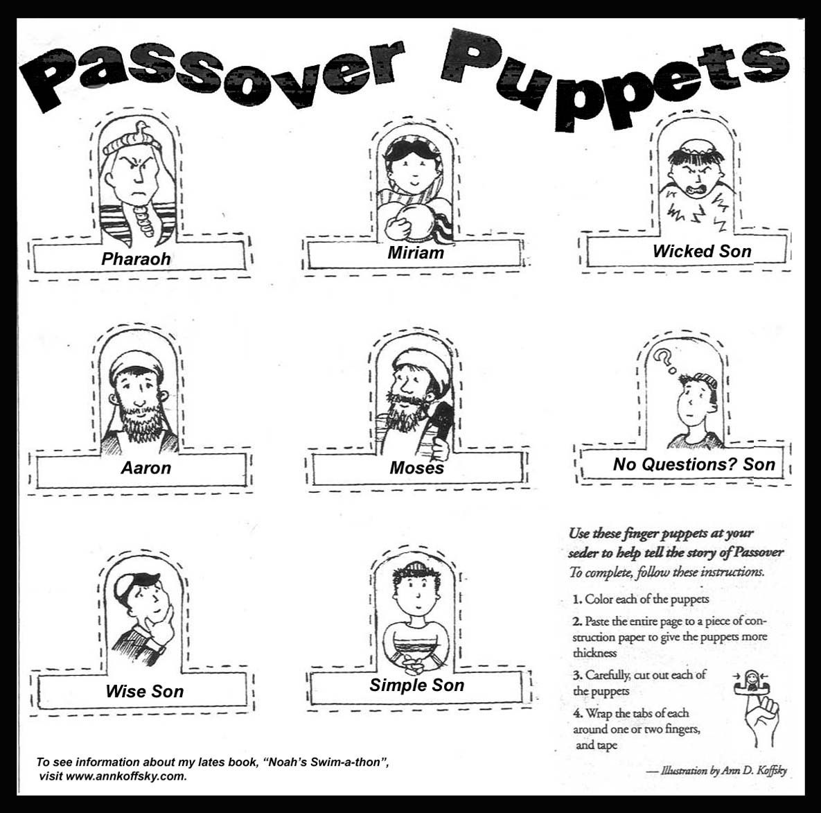 Passover Coloring Pages For Children