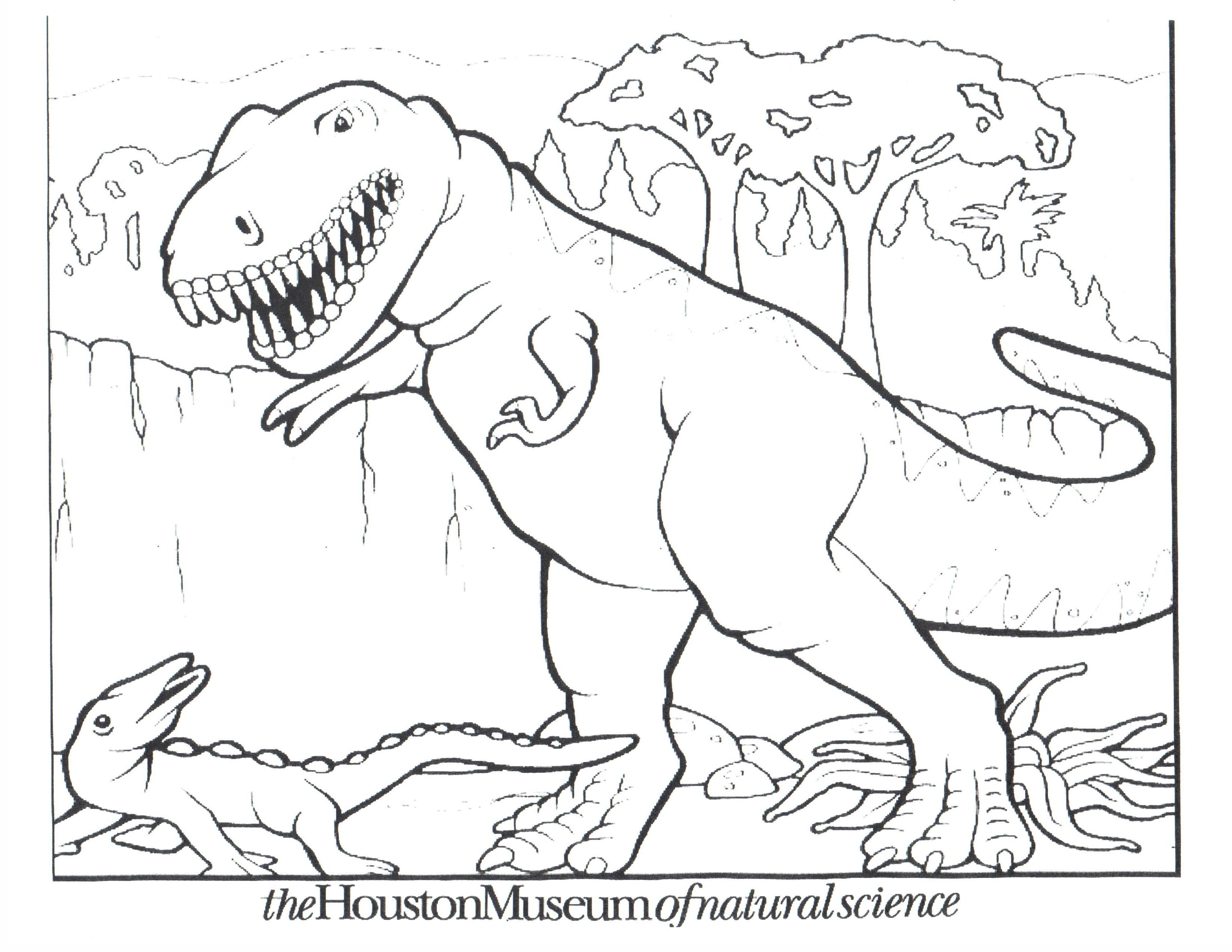 Dinosaur T Rex Coloring Pages
