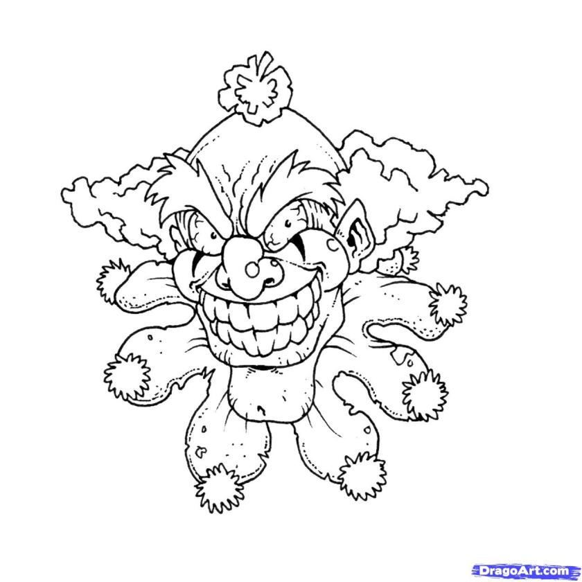 scary clown printable coloring pages  coloring home