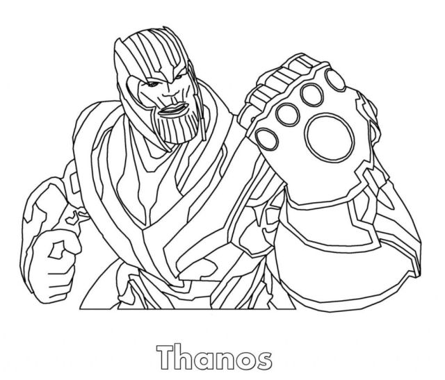 Thanos Coloring Pages - Coloring Home