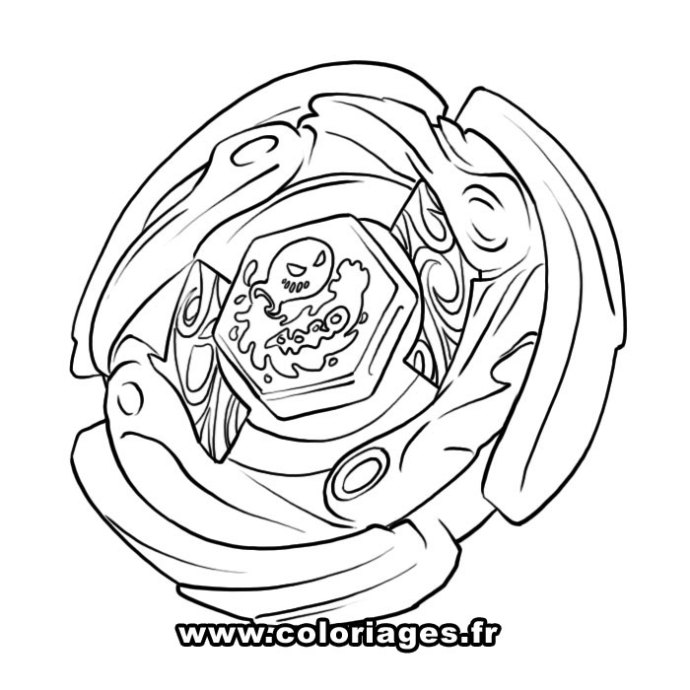 Beyblade Coloring Page Printable Pages