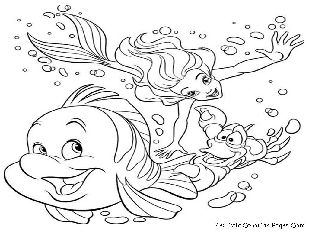 Ocean Scene Coloring Page