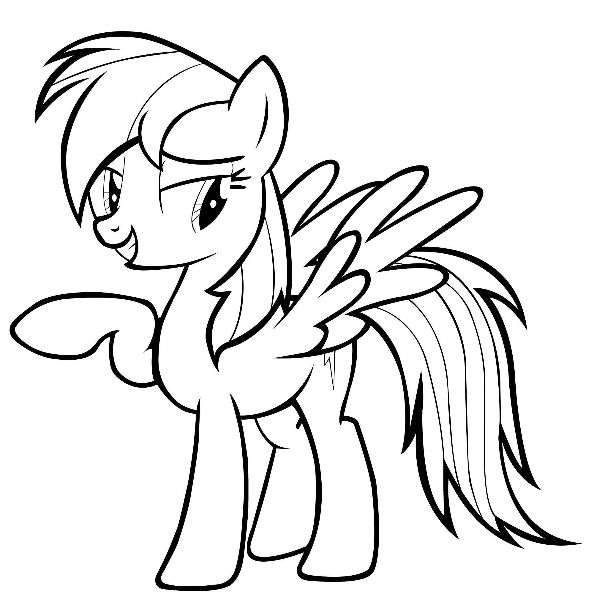My Littlr Pony Rainbow Dash Coloring Pages