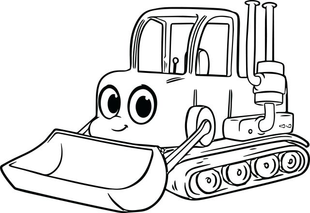 Excavator Coloring Pages - Coloring Home