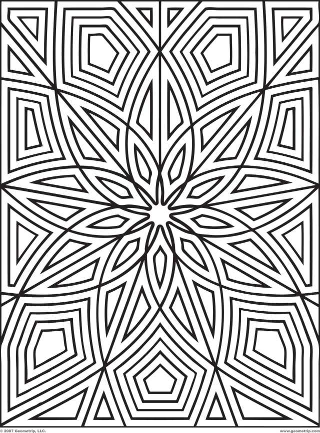 Geometric Design Coloring Pages To Print - Coloring Home