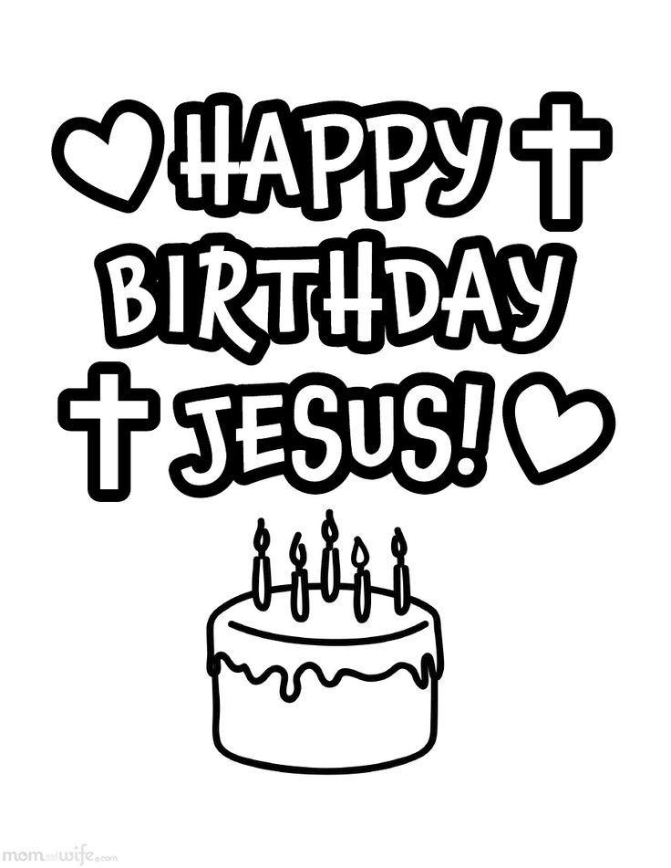 Happy Birthday Jesus Printable Coloring Pages Novocom Top