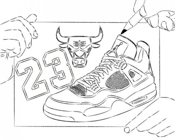 jordan shoe coloring pages # 7
