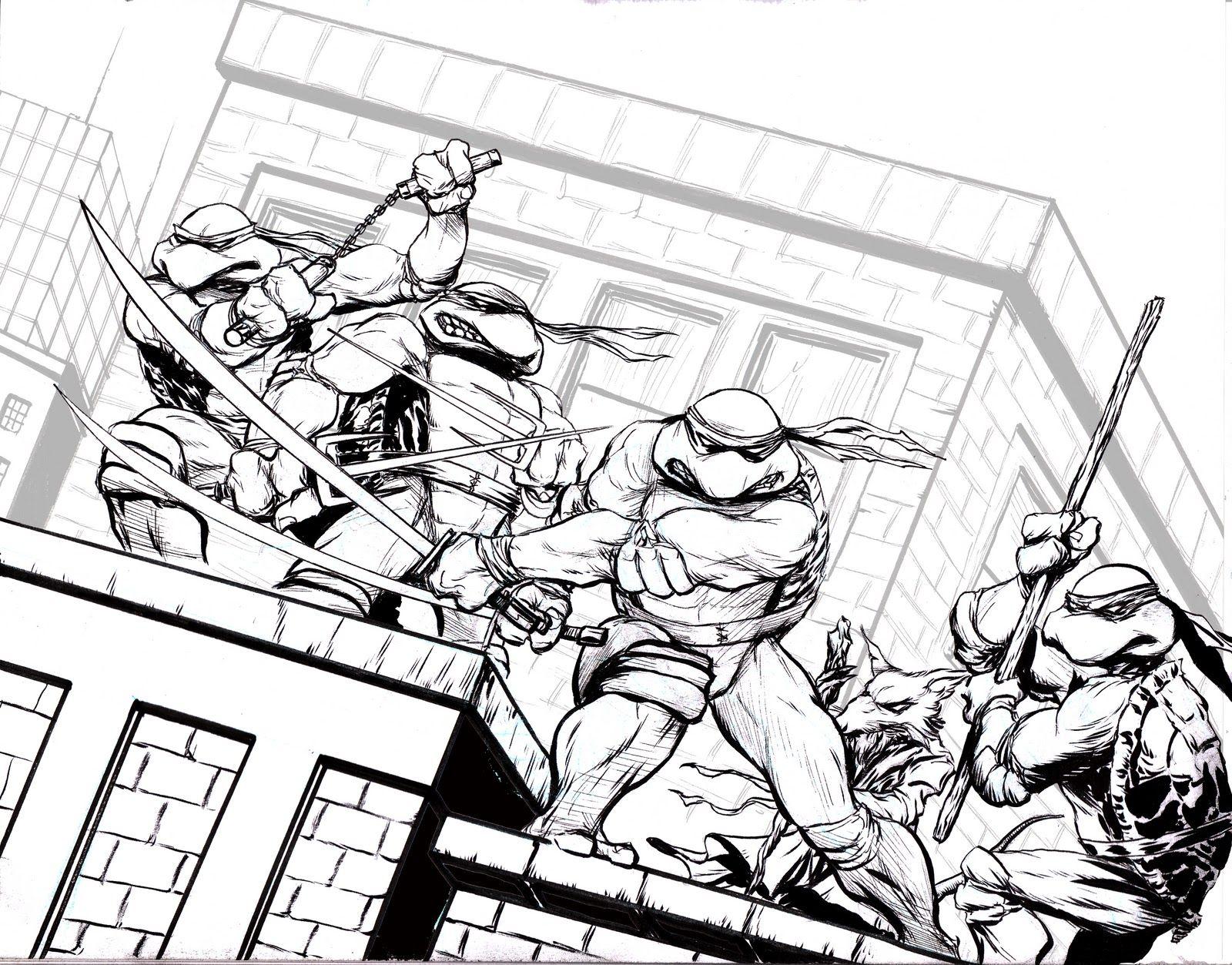 Easy Teenage Mutant Ninja Turtle Coloring Pages