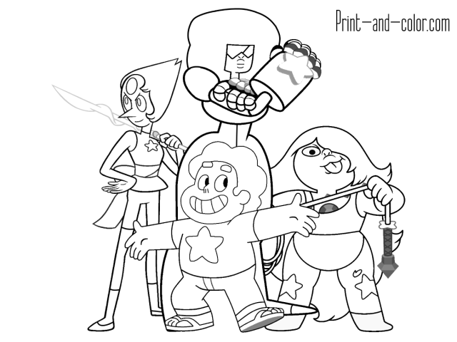 Steven Universe Coloring Pages - Coloring Home